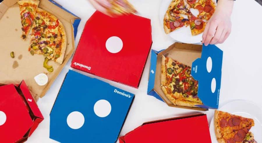 بسته بندی پیتزا دومینو