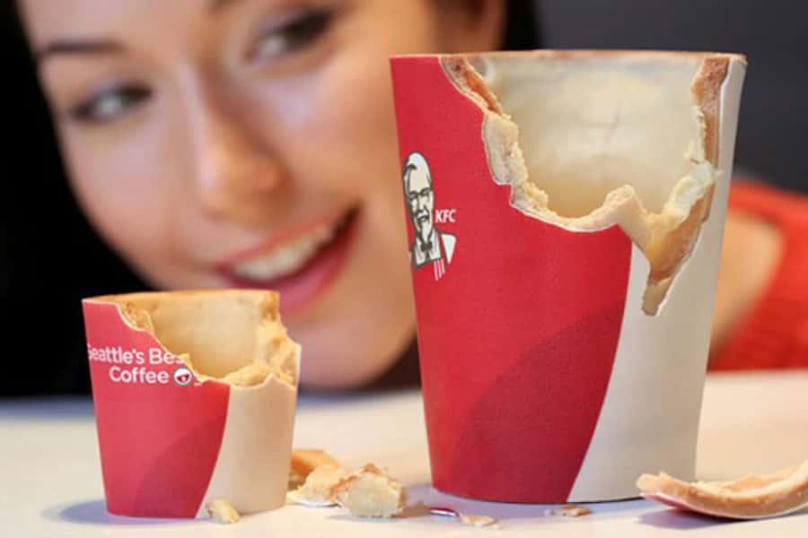 فنجانهای خوراکی KFC